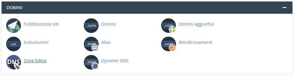 DNS Zone Editor in CPanel