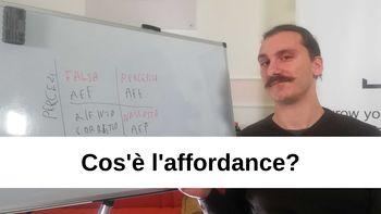 Che cos'è l'affordance?